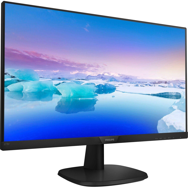 "Philips V-line 273V7QDAB 68.6 cm (27"") Full HD WLED LCD Monitor - 16:9 - Black"