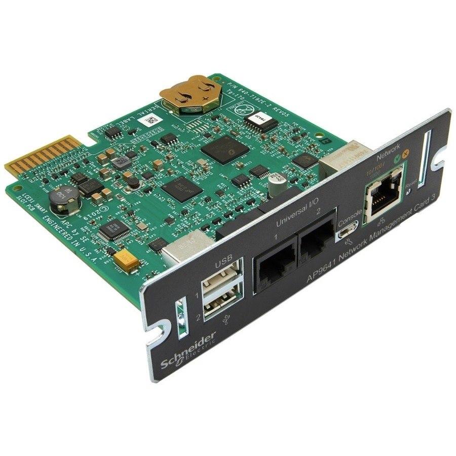 AP9641 - APC UPS Network Management Card (Advanced) include temperature sensor for environmental monitoring
