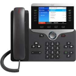 Cisco 8861 IP Phone - Corded/Cordless - Corded - Wi-Fi - Wall Mountable, Desktop - Charcoal