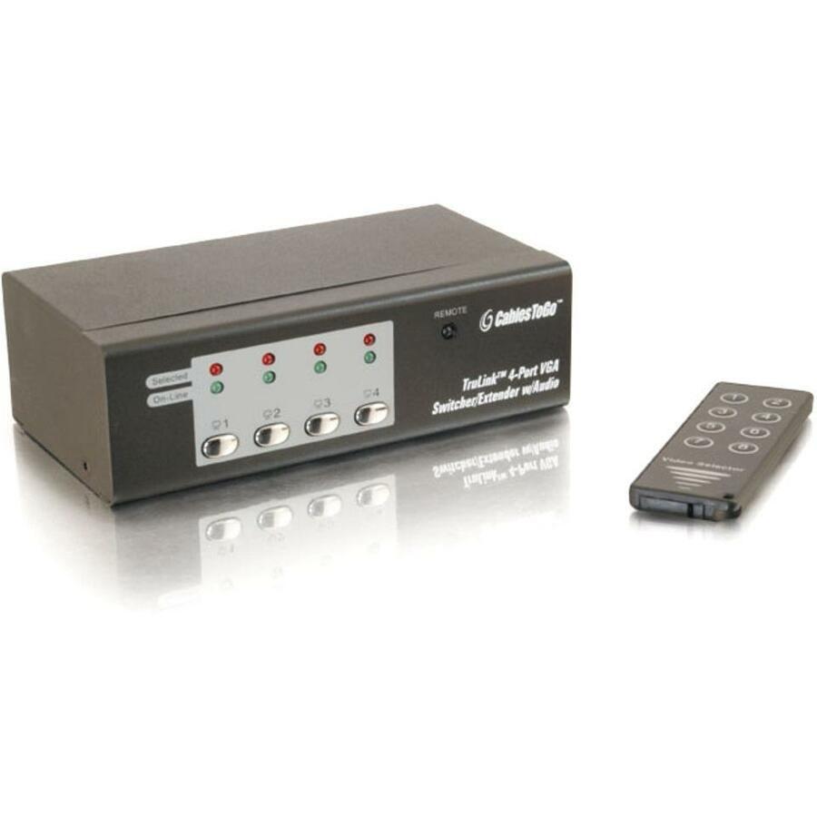 C2G TruLink 4-Port UXGA Monitor Switcher/Extender with 3.5mm Audio