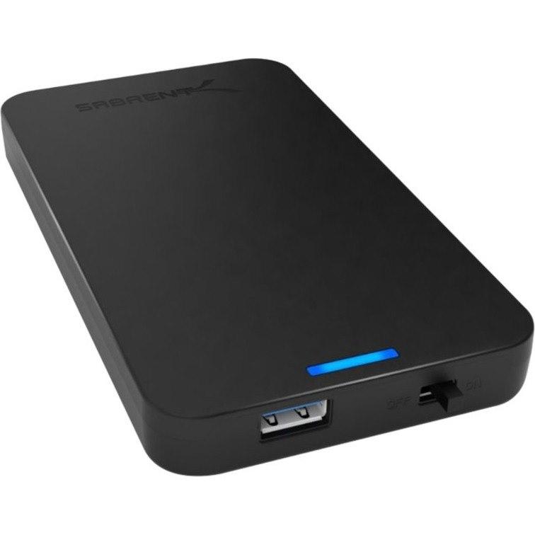 Sabrent EC-UASP Drive Enclosure - USB 3.0 Host Interface External - Black