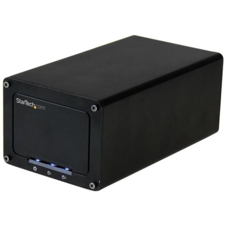 """StarTech.com USB 3.1 (10Gbps) External Enclosure for Dual 2.5"""" SATA Drives - RAID - UASP - Compatible with USB 3.0 and 2.0 Systems"""