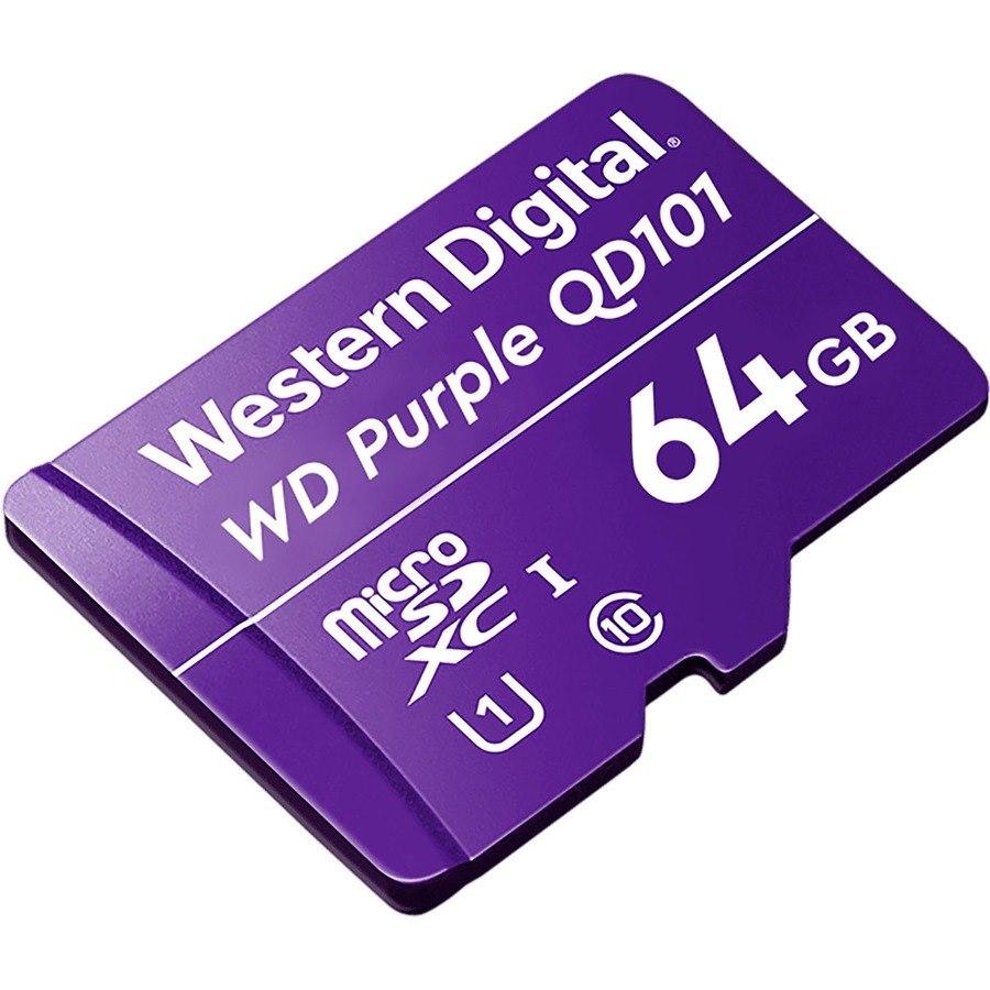 WD Purple WDD064G1P0C 64 GB Class 10/UHS-I (U1) microSDXC