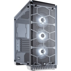 Corsair Crystal 570X Computer Case - ATX, Mini ITX, Micro ATX Motherboard Supported - Mid-tower - Steel, Tempered Glass - White