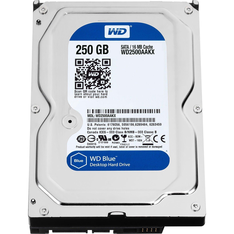 """WD Blue WD2500AAKX 250 GB Hard Drive - 3.5"""" Internal - SATA (SATA/600)"""
