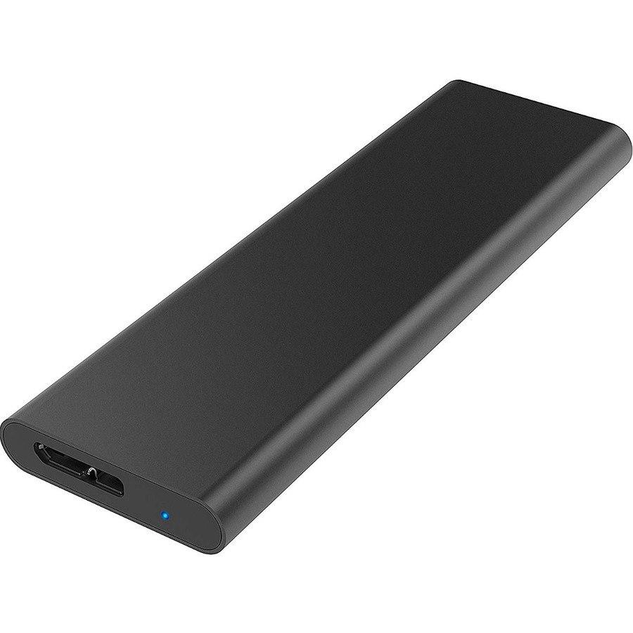 Sabrent EC-M2MC Drive Enclosure PCI Express NVMe - USB 3.0 Host Interface External - Black