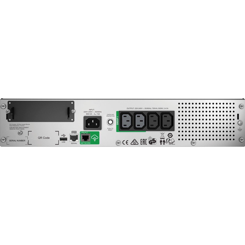 SMT750RMI2UC APC by Schneider Electric Smart-UPS Line-interactive UPS - 750 VA/500 W