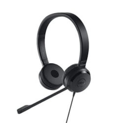 Dell UC350 Wired Over-the-head Stereo Headset - Black
