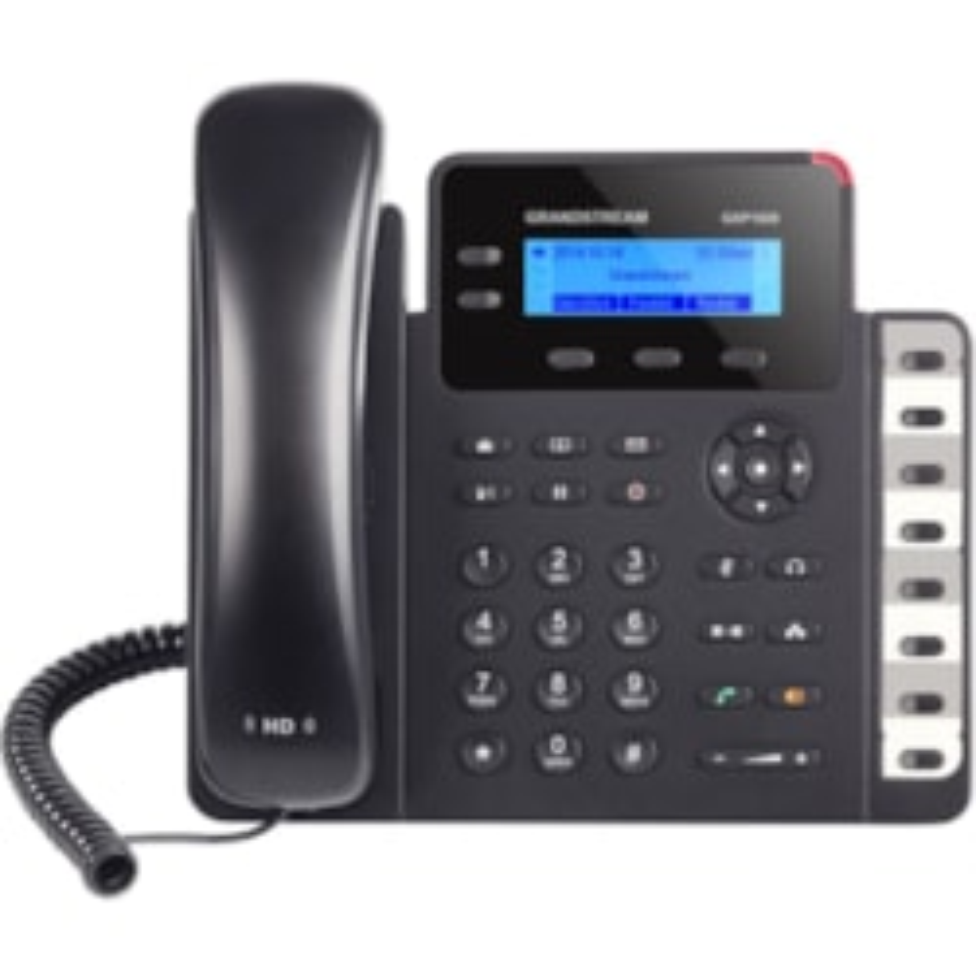 Grandstream GXP1628 IP Phone - Corded - Wall Mountable - Black