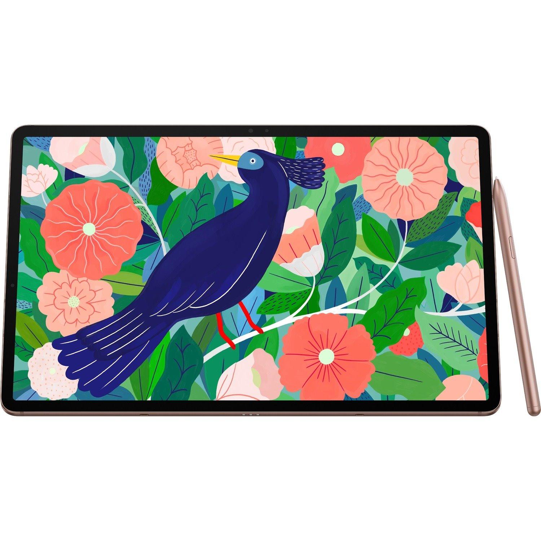 "Samsung Galaxy Tab S7+ SM-T970 Tablet - 31.5 cm (12.4"") WQXGA+ - Octa-core (8 Core) 3.09 GHz 2.40 GHz 1.80 GHz - 6 GB RAM - 128 GB Storage - Android 10 - Mystical Bronze"