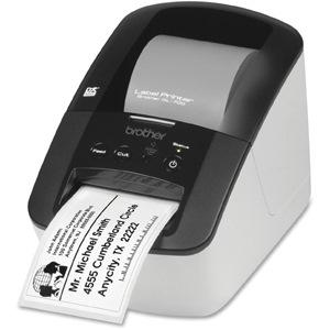Brother PocketJet QL-700 Desktop Direct Thermal Printer - Monochrome - Label Print - USB - With Yes - White, Black