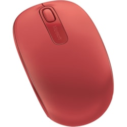 Microsoft 1850 Mouse - Radio Frequency - USB - Optical - Flame Red