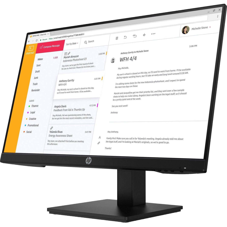 "HP P24h G4 60.5 cm (23.8"") Full HD LCD Monitor - 16:9"