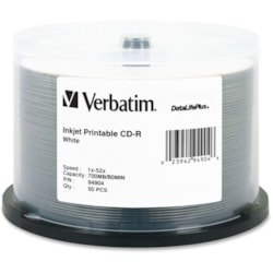 Verbatim DataLifePlus 94904 CD Recordable Media - CD-R - 52x - 700 MB - 50 Pack Spindle
