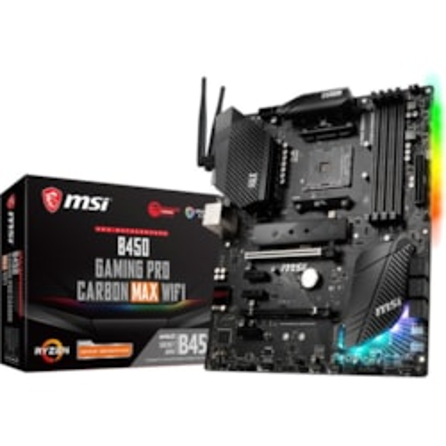 MSI B450 GAMING PRO CARBON MAX WIFI Desktop Motherboard - AMD Chipset - Socket AM4 - ATX