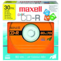 Maxell Designer CD Recordable Media - CD-R - 48x - 700 MB - 30 Pack Paper Sleeve