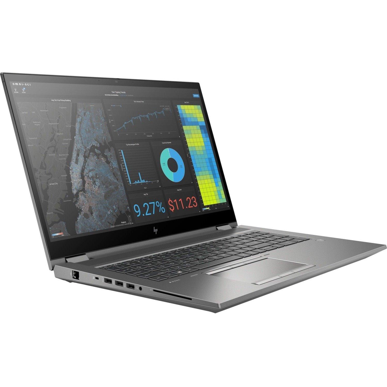 "HP ZBook Fury G7 17 G7 LTE 43.9 cm (17.3"") Mobile Workstation - 4K UHD - 3840 x 2160 - Intel Xeon W-10885M Octa-core (8 Core) 2.40 GHz - 64 GB RAM - 2 TB HDD - 1 TB SSD"