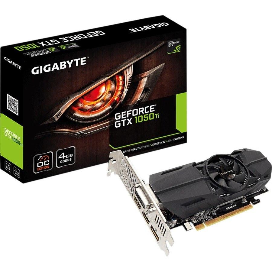 Gigabyte NVIDIA GeForce GTX 1050 Ti Graphic Card - 4 GB GDDR5 - Low-profile
