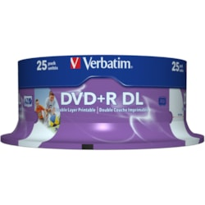 Verbatim 43667 DVD Recordable Media - DVD+R DL - 8x - 8.50 GB - 25 Pack Spindle