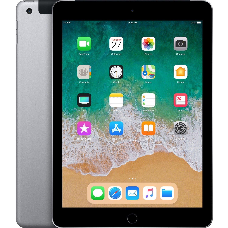 "Apple iPad Tablet - 24.6 cm (9.7"") - Hurricane Dual-core (2 Core) 2.34 GHz + Zephyr Dual-core (2 Core) - 32 GB Storage - iOS 11 - 4G - Space Gray"