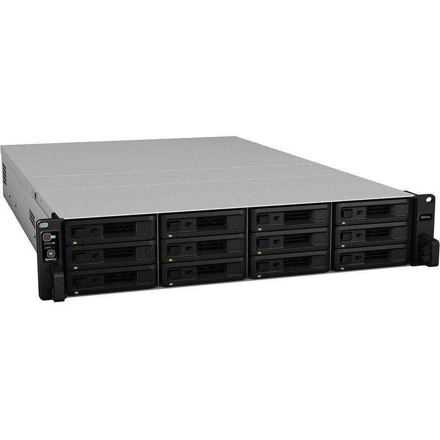 Synology RackStation RS3618XS 12 x Total Bays SAN/NAS Storage System - Intel Xeon Quad-core (4 Core) 2.40 GHz - 8 GB RAM - DDR4 SDRAM - 2U Rack-mountable