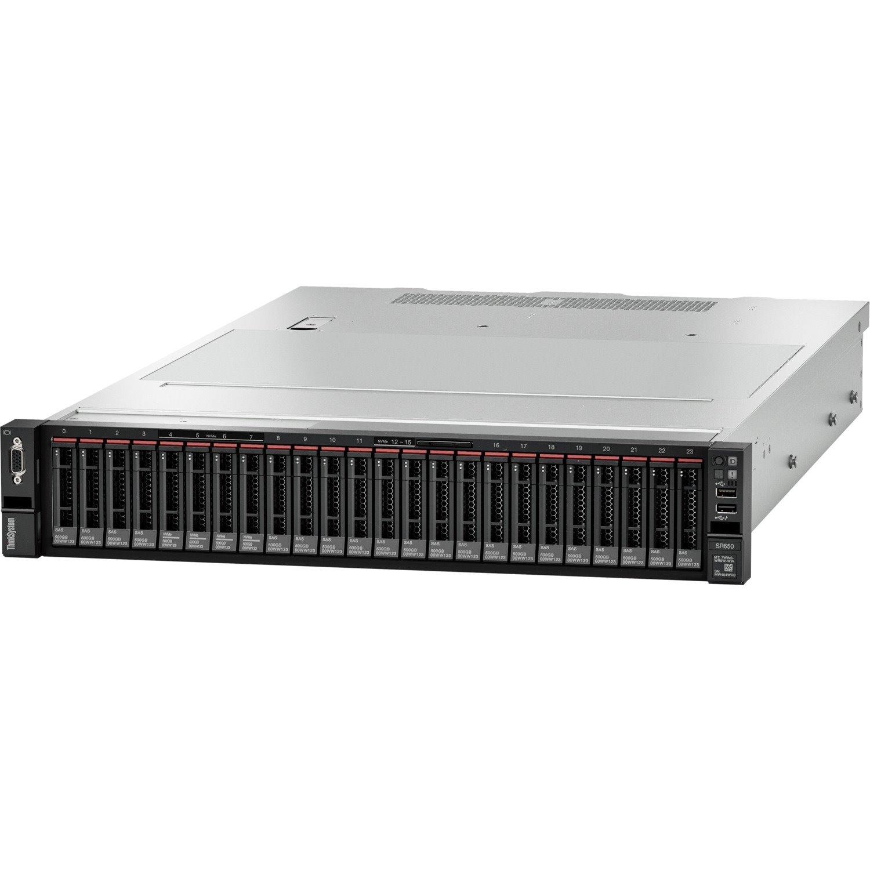 Lenovo ThinkSystem SR650 7X06A0EWAU 2U Rack Server - 1 x Intel Xeon Bronze 3204 1.90 GHz - 16 GB RAM HDD SSD - 12Gb/s SAS, Serial ATA/600 Controller