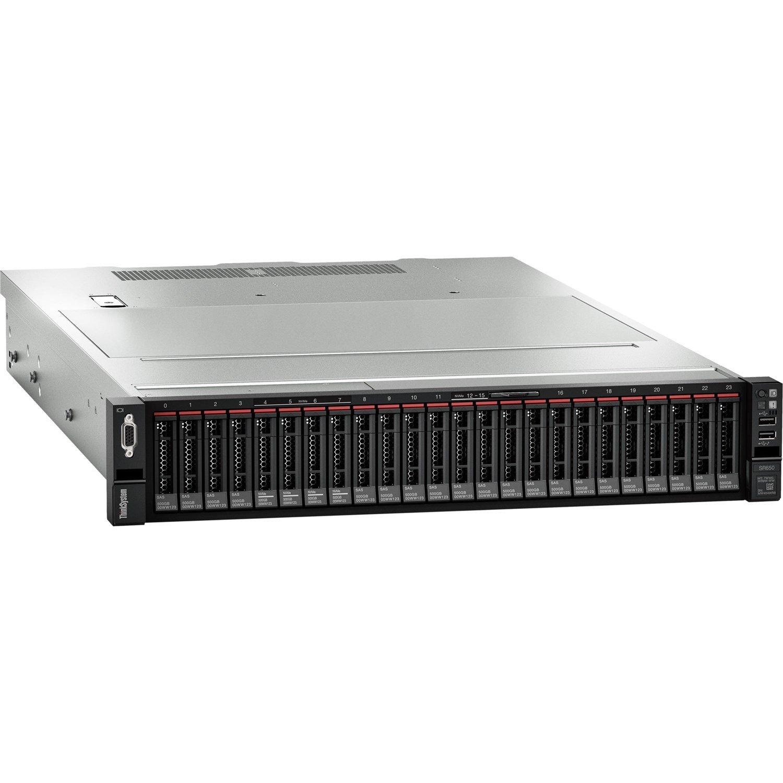 Lenovo ThinkSystem SR650 7X06A0EZAU 2U Rack Server - 1 x Intel Xeon Silver 4208 2.10 GHz - 16 GB RAM HDD SSD - 12Gb/s SAS, Serial ATA/600 Controller