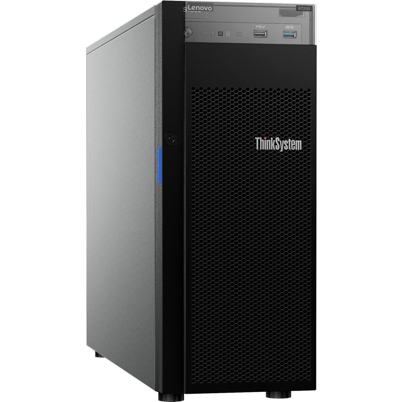 Lenovo ThinkSystem ST250 7Y45A04DAU 4U Tower Server - 1 x Intel Xeon E-2246G 3.60 GHz - 16 GB RAM HDD SSD - Serial ATA/600, 12Gb/s SAS Controller