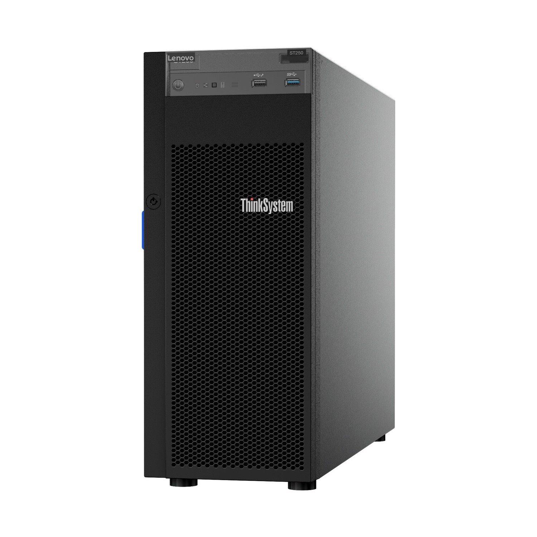 Lenovo ThinkSystem ST250 7Y46A019NA 4U Tower Server - 1 x Intel Xeon E-2136 3.30 GHz - 8 GB RAM HDD SSD - Serial ATA/600 Controller