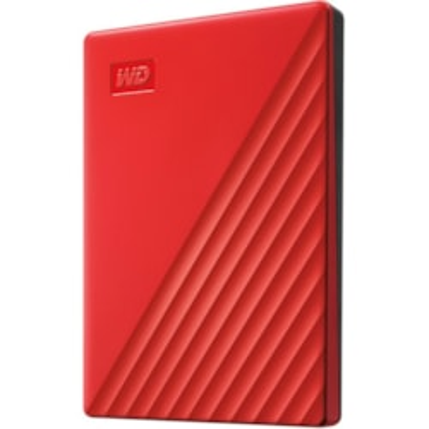 WD My Passport WDBYVG0020BRD-WESN 2 TB Portable Hard Drive - External - Red