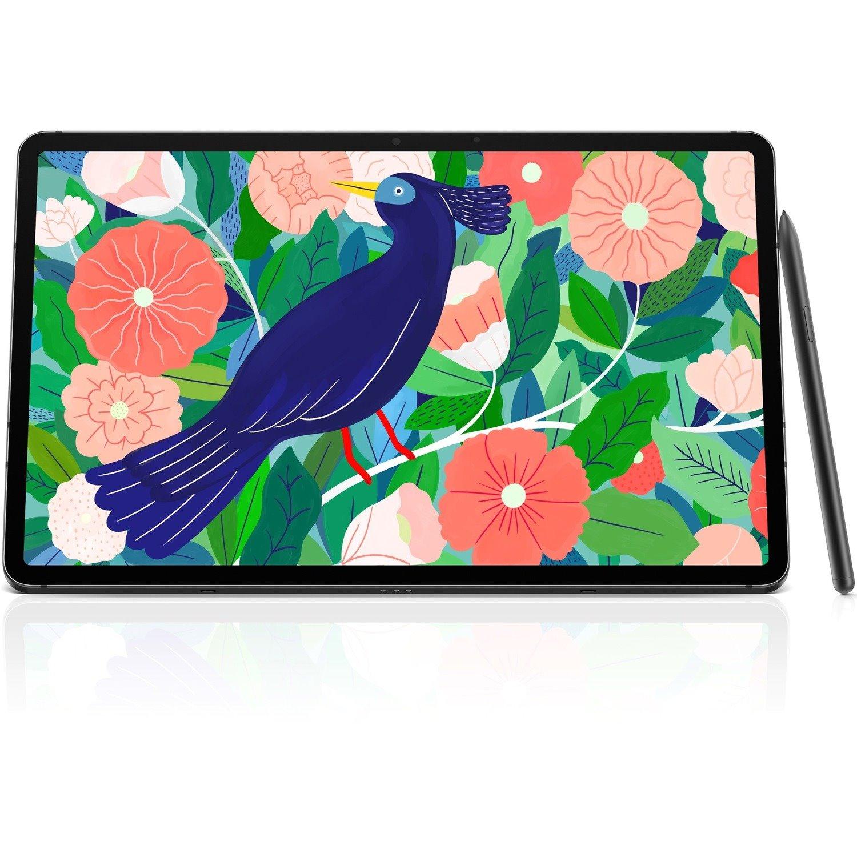 "Samsung Galaxy Tab S7 SM-T878 Tablet - 11"" WQXGA - Octa-core (8 Core) 3.09 GHz 2.40 GHz 1.80 GHz - 6 GB RAM - 128 GB Storage - Android 10 - 5G - Mystical Black"