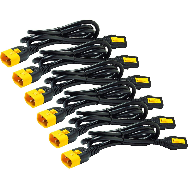 AP8702S-WW - [PACK OF 6] APC Power Cord IEC C13 to C14 10Amp Straight Plug- 0.6m