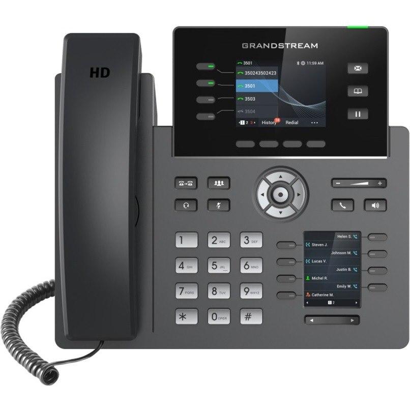 Grandstream IP Phone - Corded - Corded/Cordless - Wi-Fi, Bluetooth - Desktop