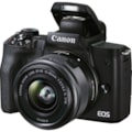Canon EOS M50 Mark II 24.1 Megapixel Mirrorless Camera with Lens - 15 mm - 45 mm - Black