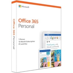 Microsoft Office 365 2019 Personal 32/64-bit for Developed Market With 1 Year Subscription - Box Pack - 1 Year