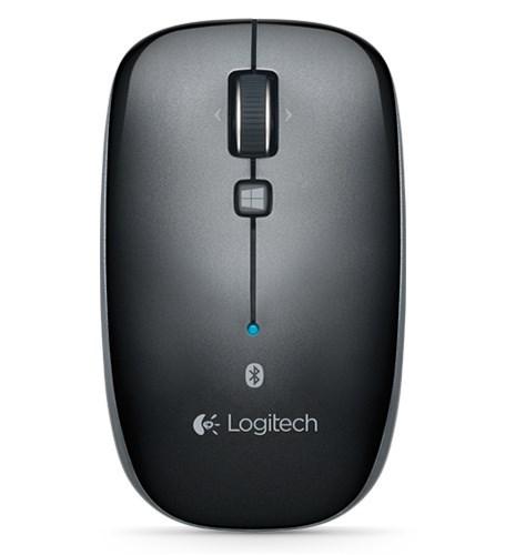 Logitech M557 Mouse - Bluetooth - Optical - Grey