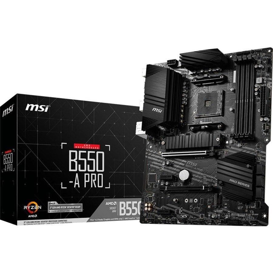 MSI B550-A PRO Desktop Motherboard - AMD Chipset - Socket AM4 - ATX