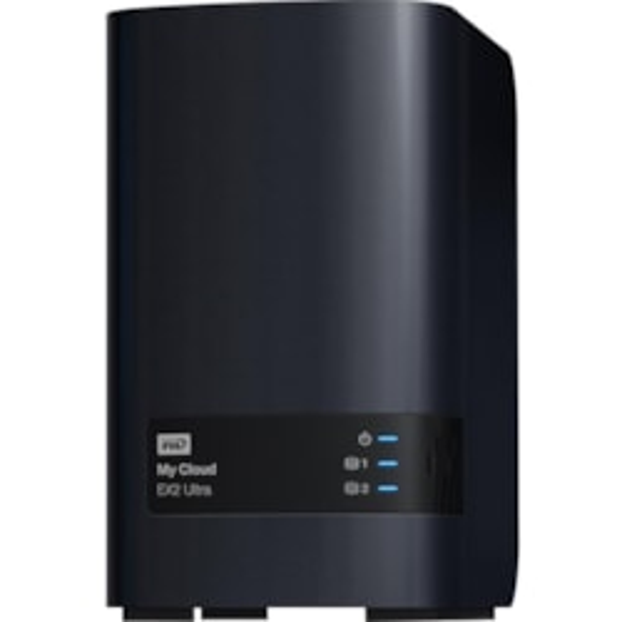 WD My Cloud EX2 Ultra WDBVBZ0000NCH-SESN 2 x Total Bays SAN/NAS Storage System - Marvell Armada 385 Dual-core (2 Core) 1.30 GHz - 1 GB RAM - DDR3 SDRAM Desktop