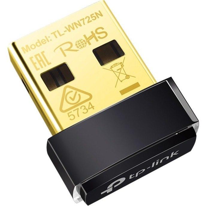 TP-Link TL-WN725N IEEE 802.11n Wi-Fi Adapter for Desktop Computer
