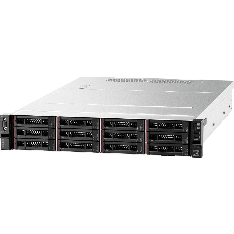 Lenovo ThinkSystem SR550 7X04A082AU 2U Rack Server - Intel C622 SoC - 1 x Intel Xeon Silver 4210 2.20 GHz - 32 GB RAM - Serial ATA/600, 12Gb/s SAS Controller