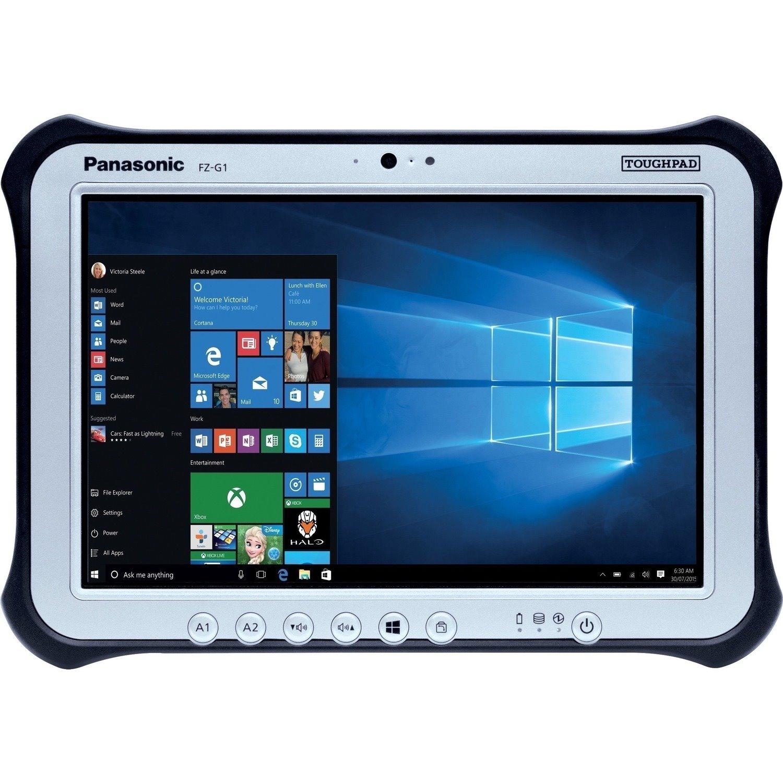 """Panasonic Toughpad FZ-G1 FZ-G1W3100VA Tablet - 25.7 cm (10.1"""") - Intel Core i5 7th Gen i5-7300U 2.60 GHz - 8 GB RAM - 128 GB SSD - Windows 10 Pro 64-bit - 4G"""