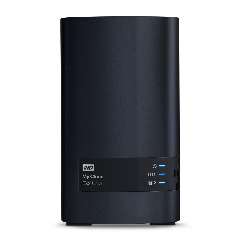 WD My Cloud EX2 Ultra WDBVBZ0120JCH 2 x Total Bays NAS Storage System - Marvell Armada 385 Dual-core (2 Core) 1.30 GHz - 1 GB RAM - DDR3 SDRAM Desktop