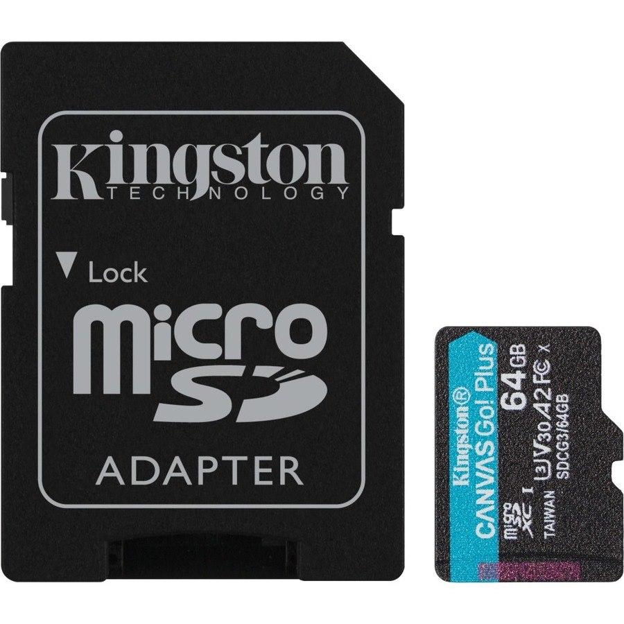 Kingston Canvas Go! Plus 64 GB Class 10/UHS-I (U3) microSDXC