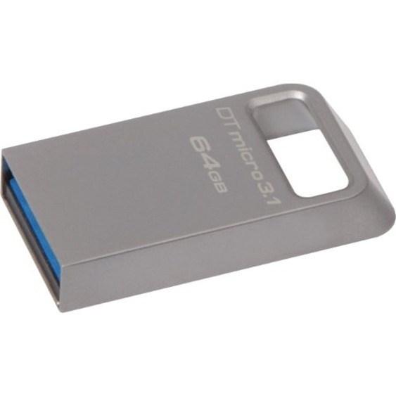 Kingston 128GB DTMicro USB 3.1/3.0 Type-A Metal Ultra-Compact Flash Drive