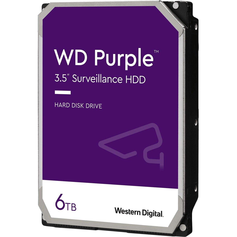 """WD Purple WD60PURZ 6 TB Hard Drive - 3.5"""" Internal - SATA (SATA/600)"""