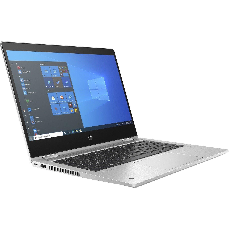 "HP ProBook x360 435 G8 33.8 cm (13.3"") Touchscreen Rugged 2 in 1 Notebook - Full HD - 1920 x 1080 - AMD Ryzen 5 5600U Hexa-core (6 Core) 2.30 GHz - 8 GB RAM - 256 GB SSD - Pike Silver Aluminum"