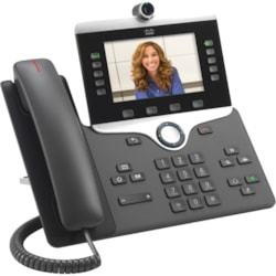 Cisco 8865 IP Phone - Corded/Cordless - Corded/Cordless - Wi-Fi, Bluetooth - Desktop, Wall Mountable - Charcoal