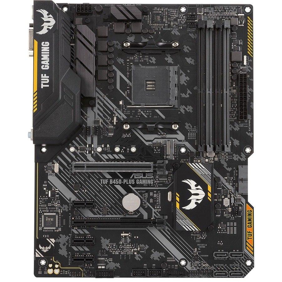 TUF B450-PLUS GAMING Desktop Motherboard - AMD Chipset - Socket AM4 - ATX