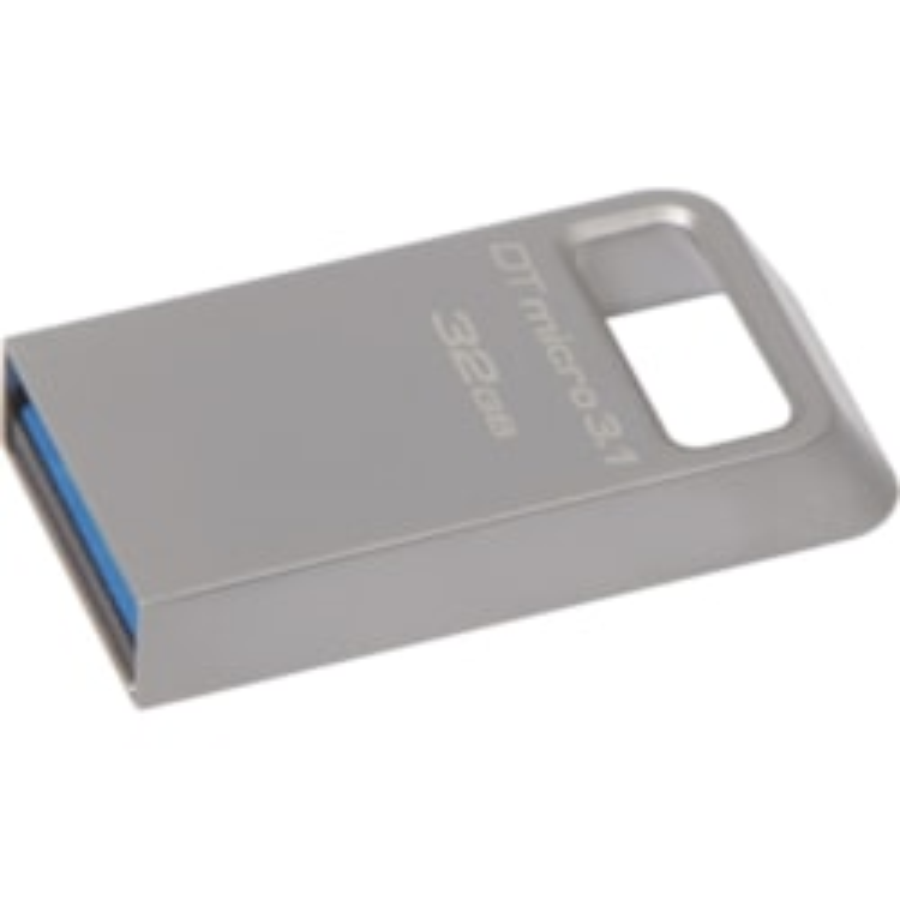 Kingston 32GB DTMicro USB 3.1/3.0 Type-A Metal Ultra-compact Flash Drive