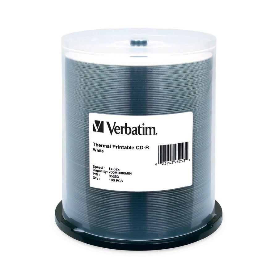 Verbatim 95253 CD Recordable Media - CD-R - 52x - 700 MB - 100 Pack Spindle